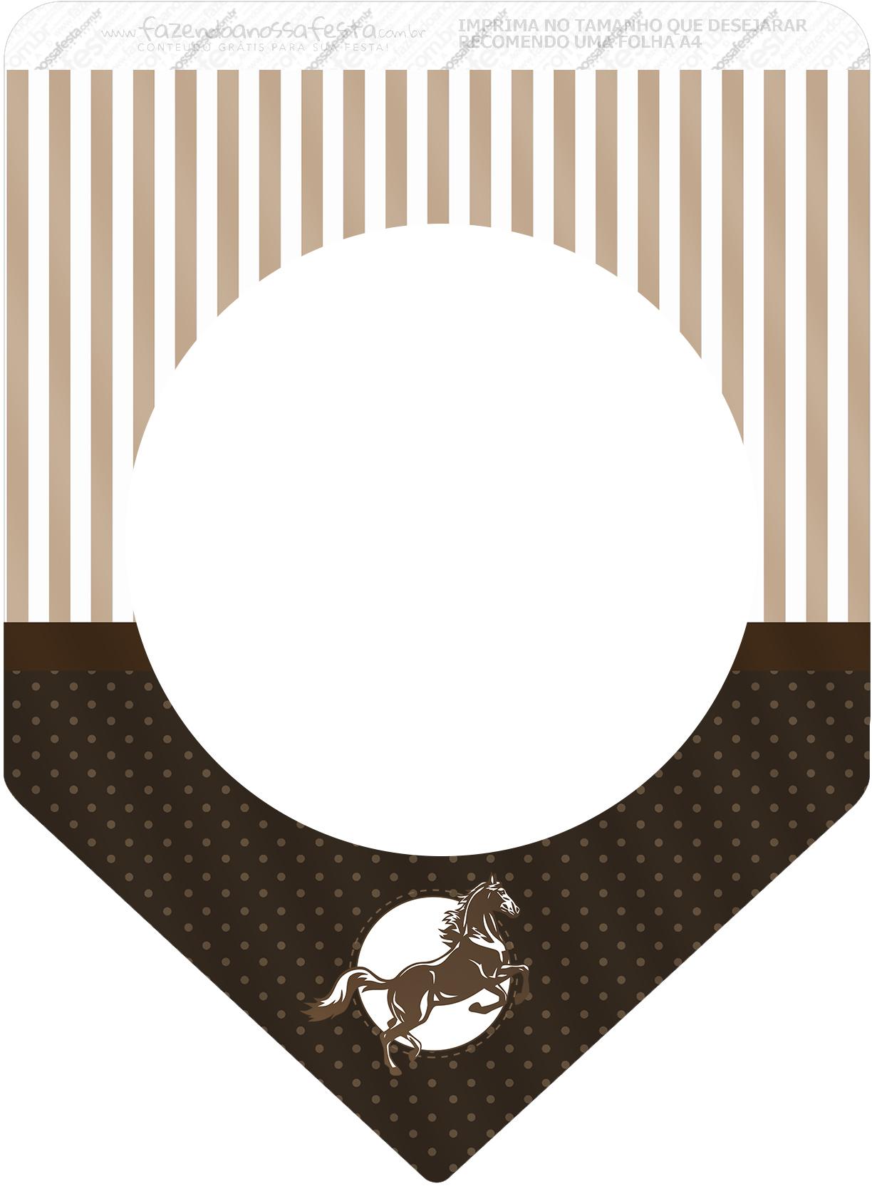 Bandeirinha Varalzinho Cavalo