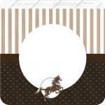 Bandeirinha Varalzinho Quadrada Cavalo