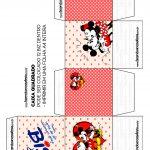 Caixa Bis Quadrada Cubo Mickey e Minnie Vintage Dia dos Namorados