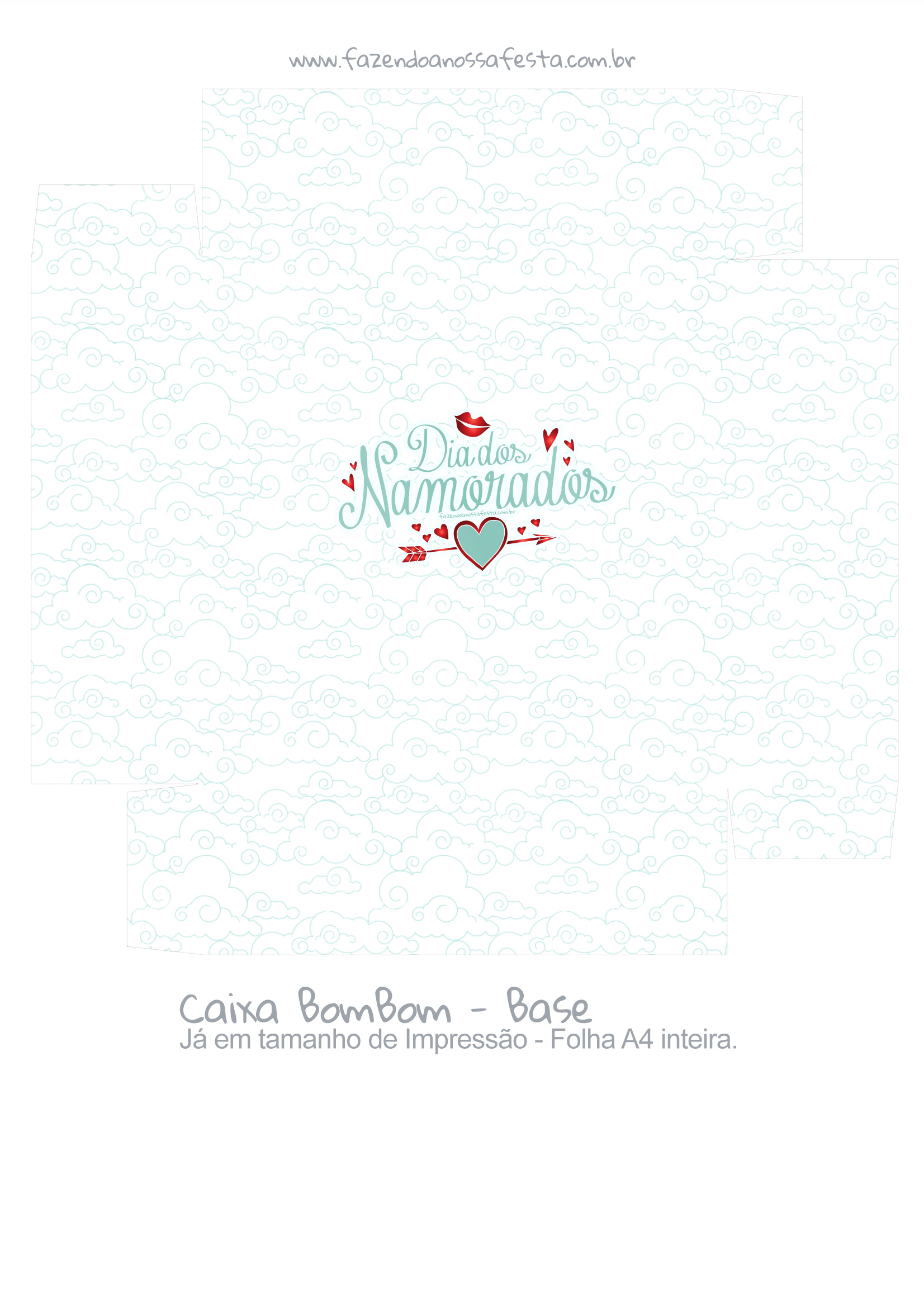 Caixa Bombom Dia dos Namorados Anjinho - parte 2