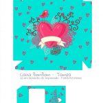 Caixa Bombom Dia dos Namorados Azul Tiffany - parte 1