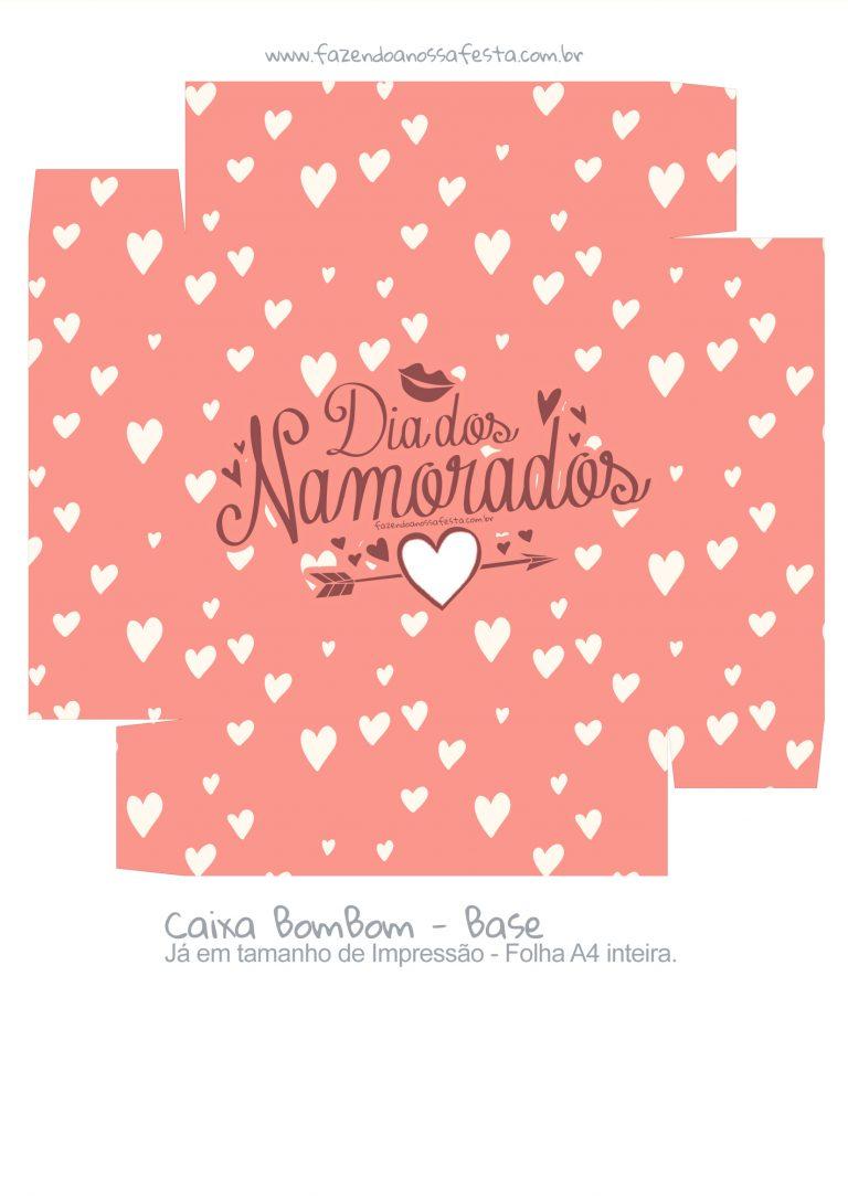 Caixa Bombom Dia dos Namorados Salmao - parte 2 - Fazendo