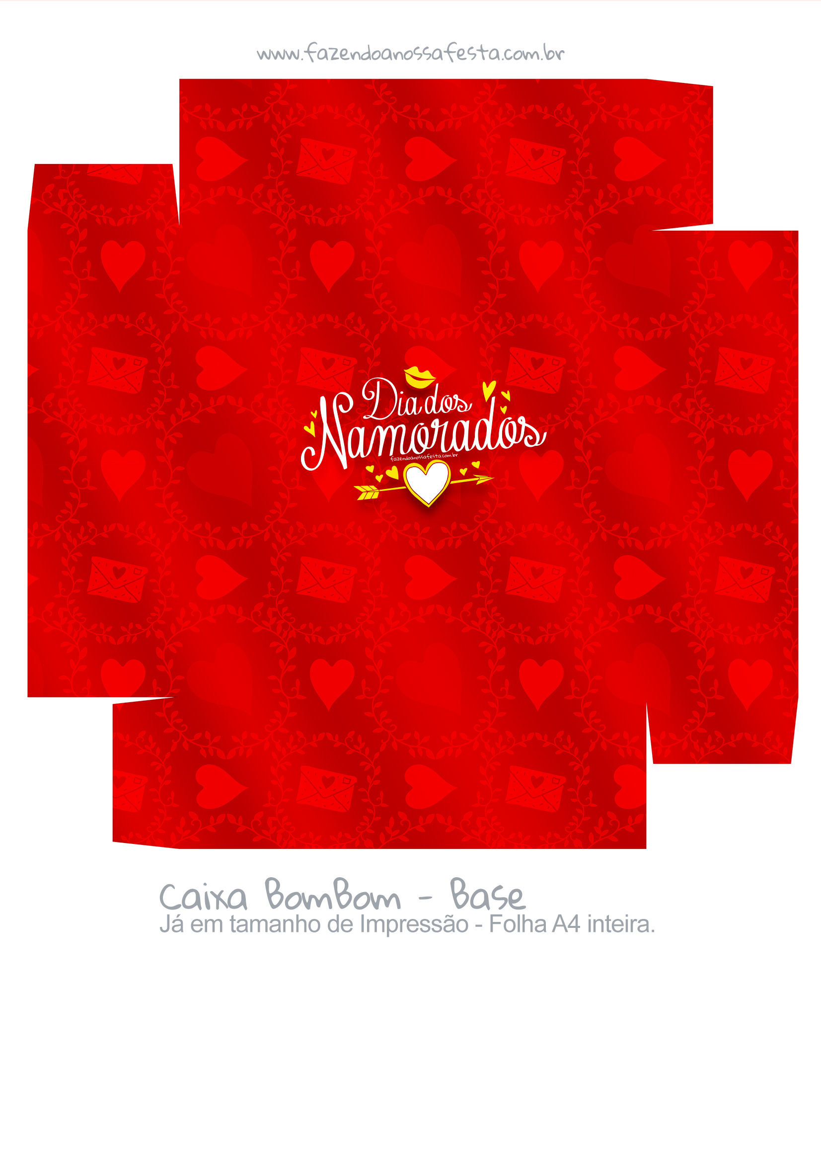 Caixa Bombom Dia dos Namorados Vermelho 2- parte 2
