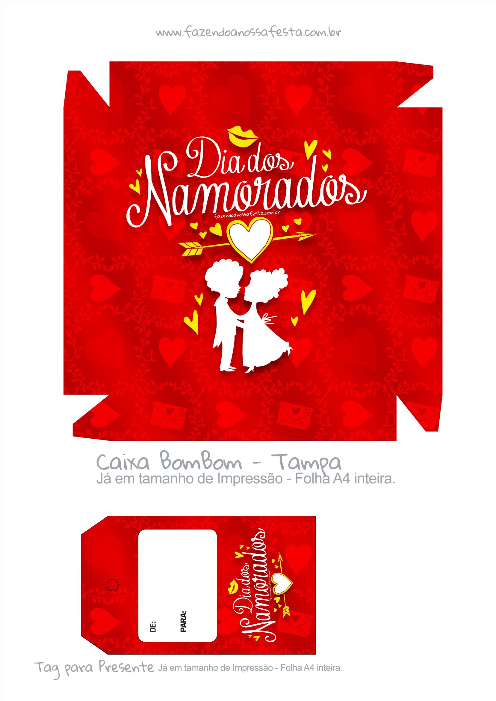 Sacolinha Dia dos Namorados Vermelho - parte 2