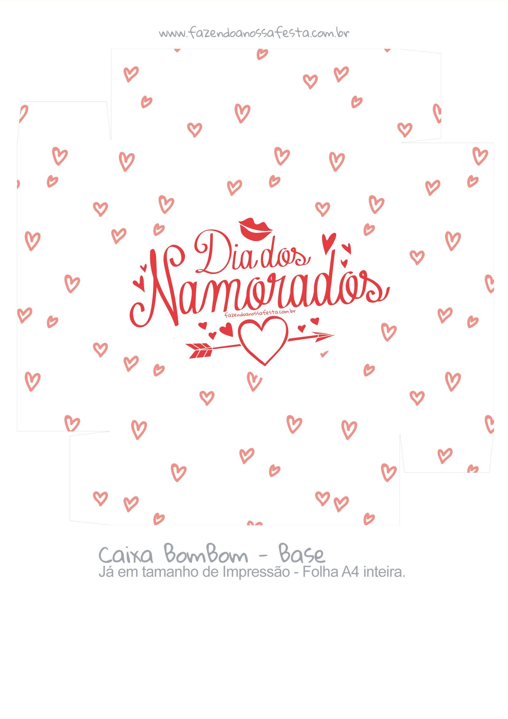 Caixa Bombom Presente Dia dos Namorados - parte 2