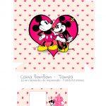 Caixa Bombom Rosa Kit Presente Mickey e Minnie Vintage - tampa