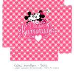 Caixa Bombom Rosa Kit Presente Mickey e Minnie Vintage - fundo