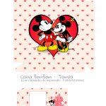 Caixa Bombom Vermelho Kit Presente Mickey e Minnie Vintage - tampa