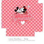 Caixa Bombom Vermelho Kit Presente Mickey e Minnie Vintage - fundo