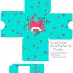 Caixa Cubo Dia dos Namorados Coracao - parte 1