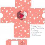 Caixa Cubo Dia dos Namorados Gatinho - tampa