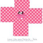 Caixa Cubo Dia dos Namorados Kit Presente Mickey e Minnie Vintage - Fundo