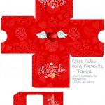 Caixa Cubo Dia dos Namorados Vermelho - base