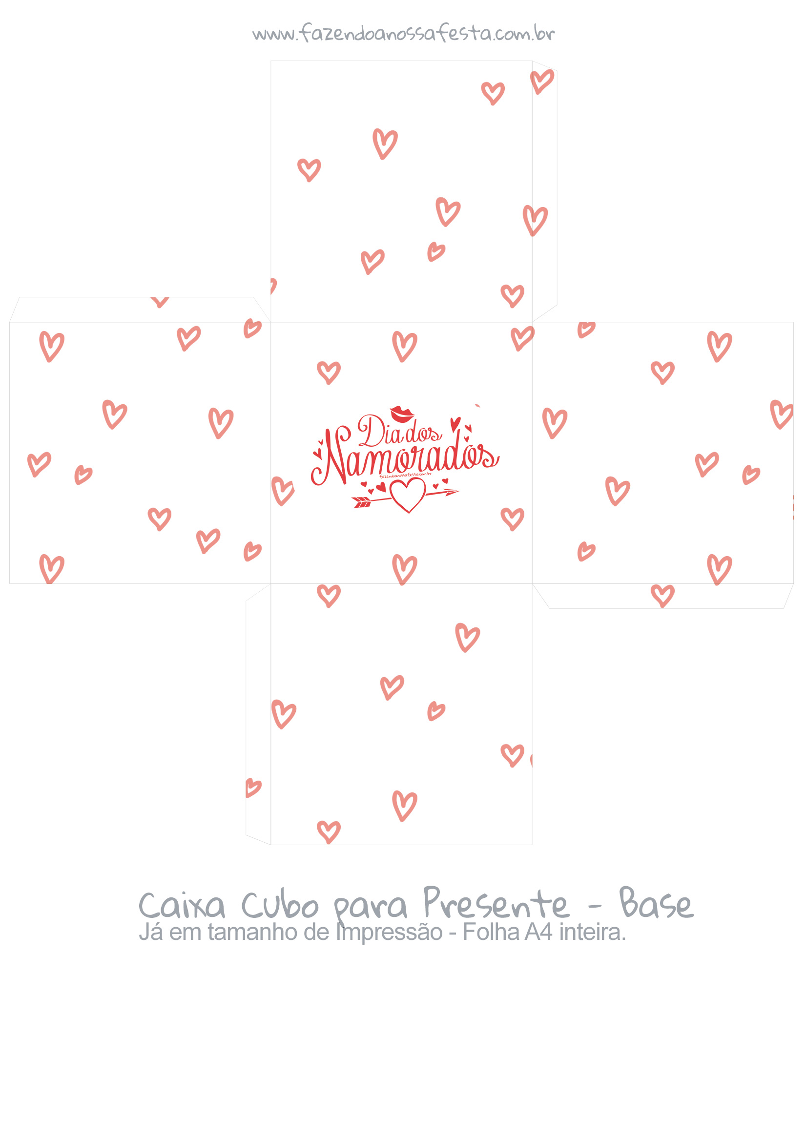 Caixa Cubo Presente Dia dos namorados 2- Base