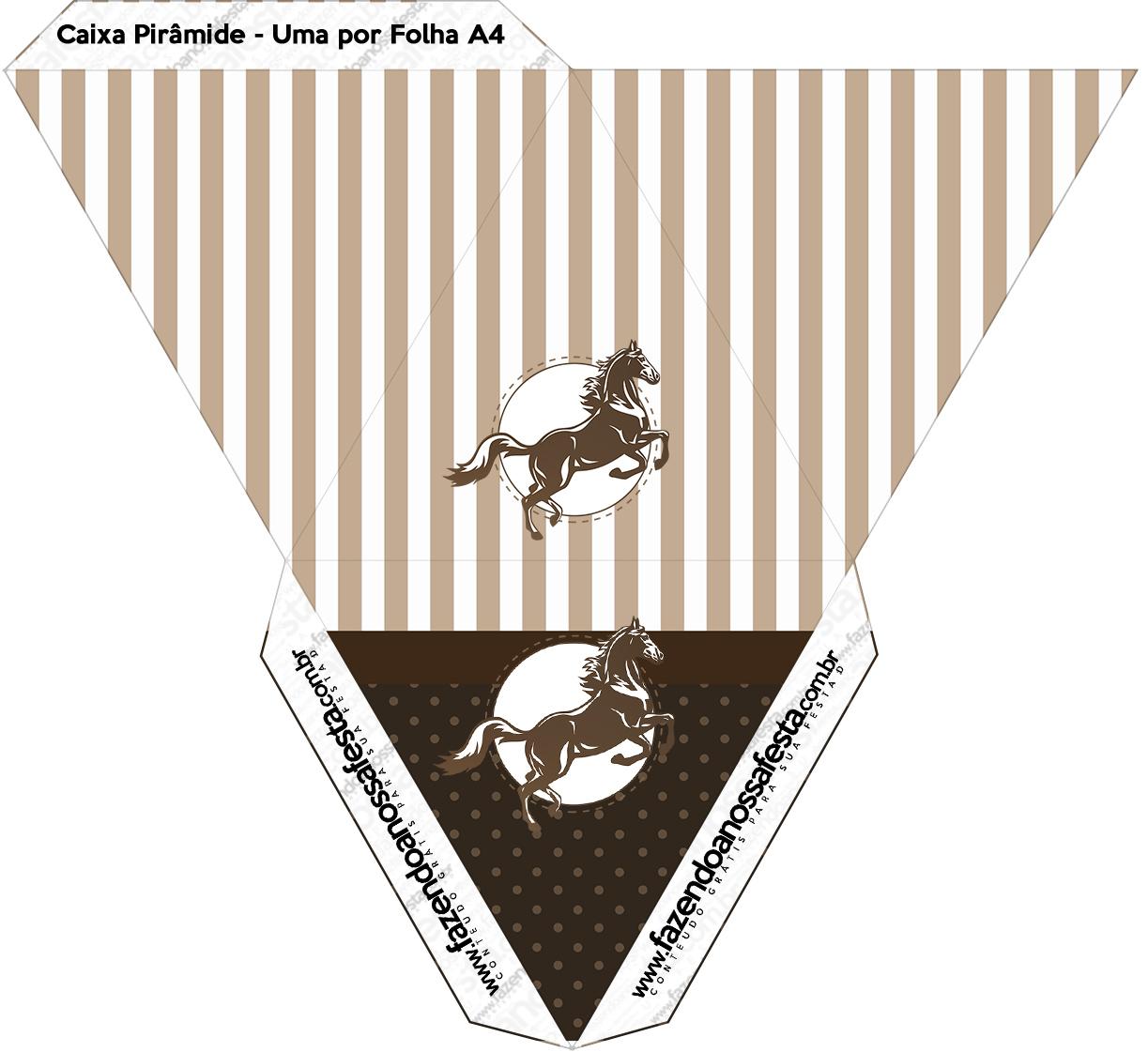 Caixa Pirâmide Cavalo 2
