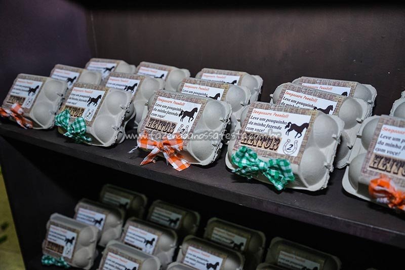 Caixa de ovos Ideias para Festa Cavalos