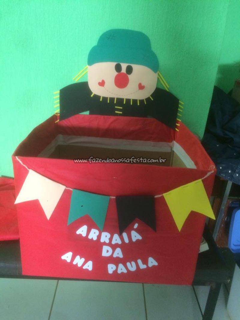 Caixa de presentes Festa Junina Ana Paula