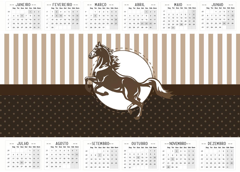 Calendario 2016 Cavalo 2