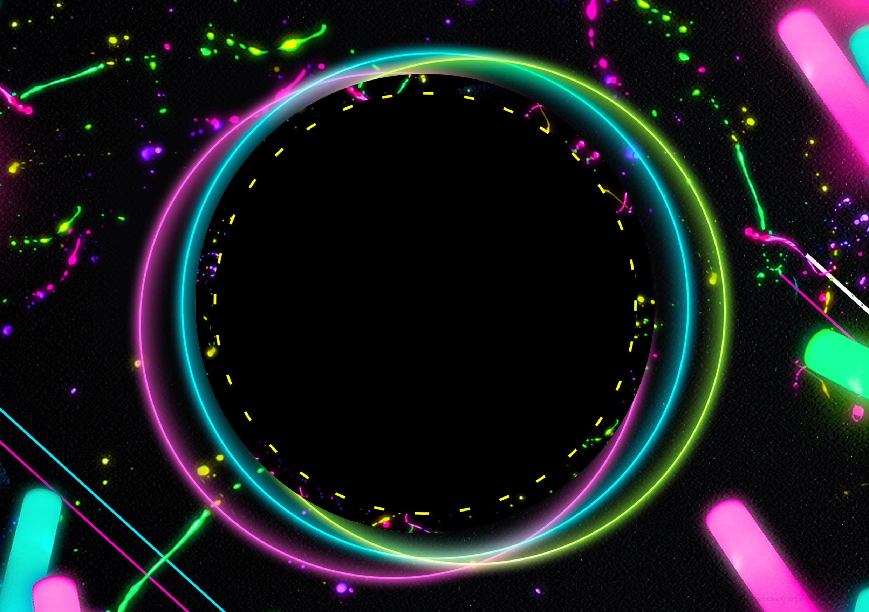 Convite Kit Festa Neon