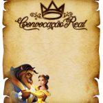 Convite Pergaminho Bela e a Fera 3