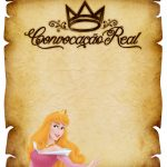 Convite Pergaminho Princesa Aurora 2