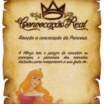 Convite Pergaminho Princesa Aurora - Bela Adormecida