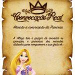 Convite Pergaminho Rapunzel 1