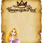 Convite Pergaminho Rapunzel 2