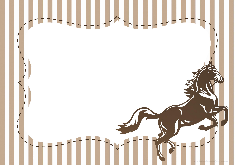 Convite ou Moldura Cavalo