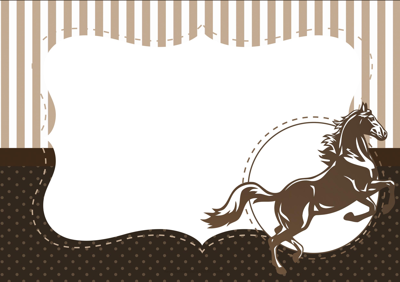 Convite para festa Kit Festa Cavalo