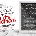 Chalkboard Dia dos Namorados – Grátis