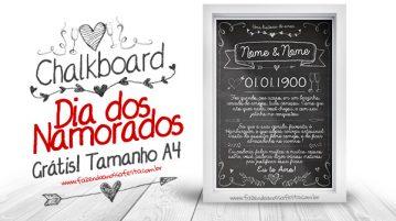 Dia dos Namorados Chalkboard