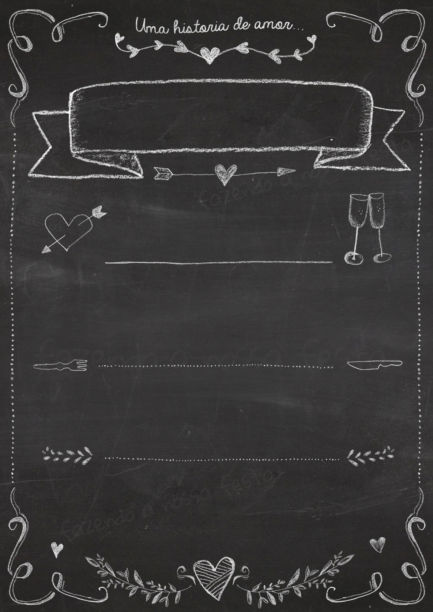 Chalkboard Chalkboard Dia Dos Namorados Gratis