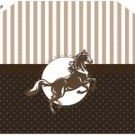 Envelope com Convite Cavalo