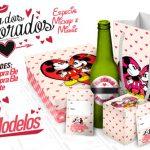 Kit Presente Mickey e Minnie Vintage para Dia dos Namorados