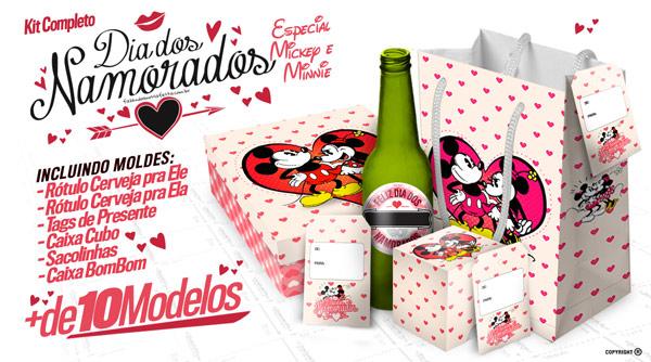 Vocês pediram, e nós atendemos! Kit Dia dos Namorados Especial do Mickey e Minnie, eu amei!