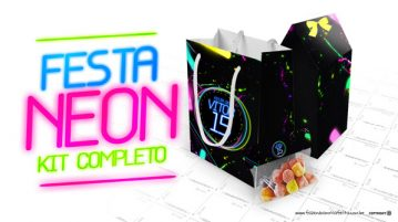Kit Festa Neon para Imprimir