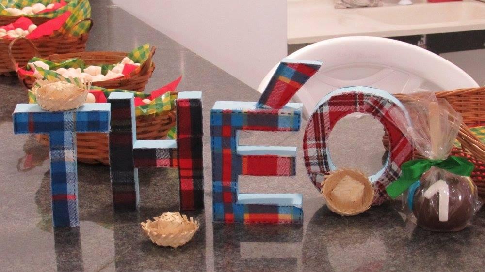 Letras Minegraft Fazendo A Nossa Festa: Letras 3D Festa Junina Do Theo
