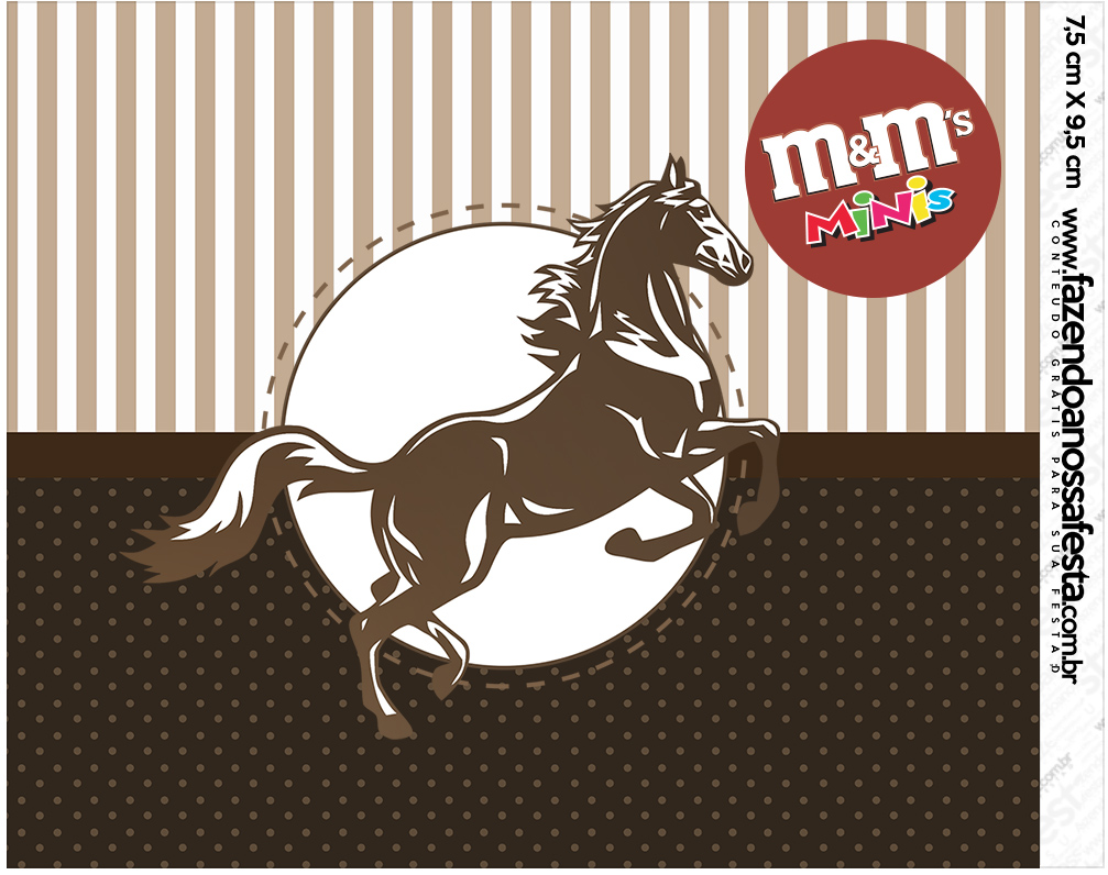 Mini M&M Cavalo