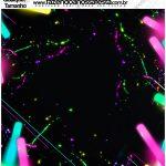 Molde Quadrado Festa Neon