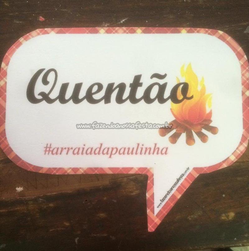 Plaquinha Festa Junina Ana Paula