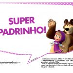 Plaquinhas Masha e o Urso