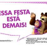 Plaquinhas Masha e o Urso 22