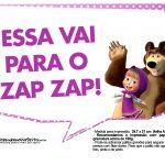 Plaquinhas Masha e o Urso 3