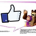 Plaquinhas Masha e o Urso 8