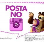 Plaquinhas Masha e o Urso 9