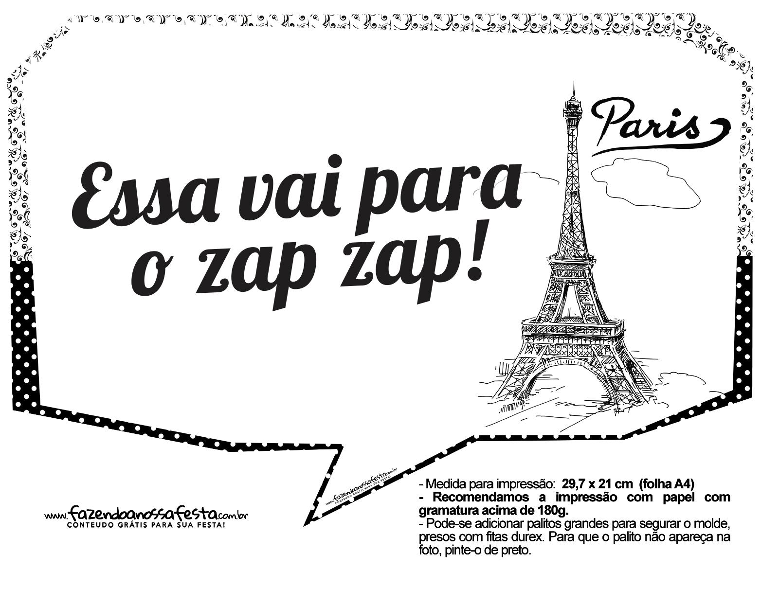 Plaquinhas Paris Preto e Branco 10
