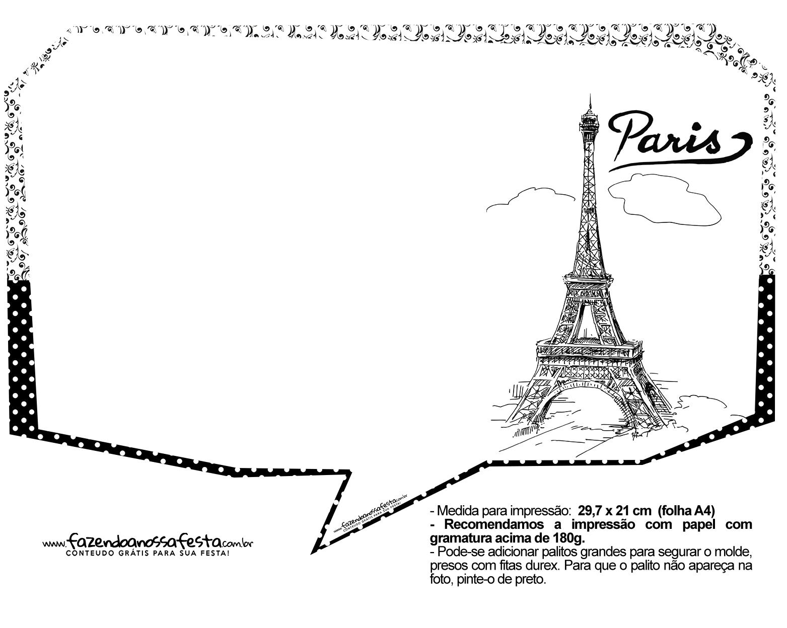 Plaquinhas Paris Preto e Branco 19
