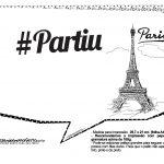 Plaquinhas Paris Preto e Branco 20