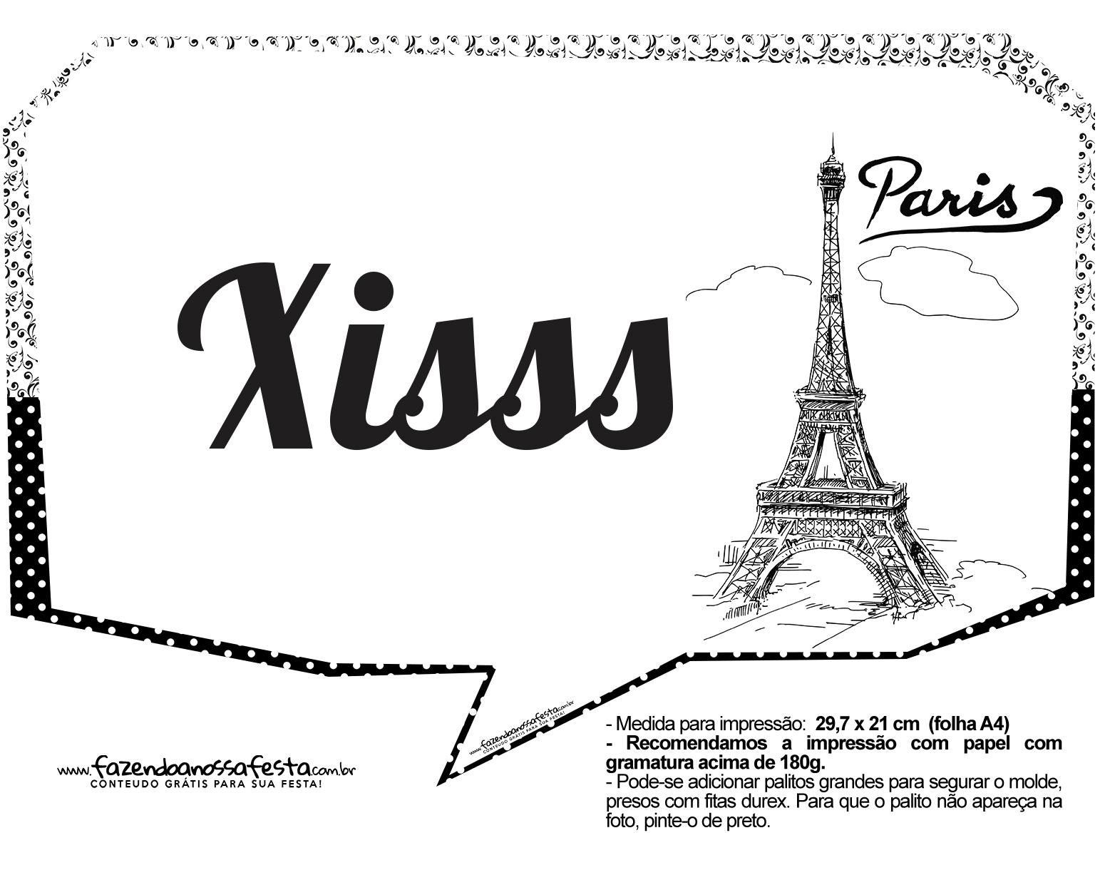 Plaquinhas Paris Preto e Branco 21